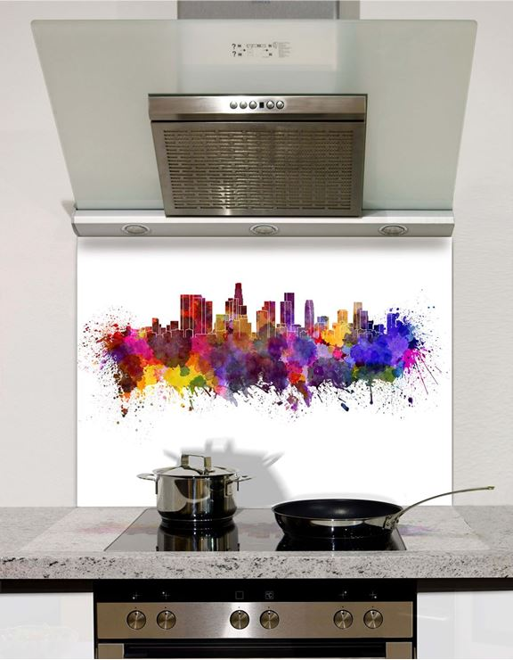 Picture of Watercolour Los Angeles Splashback