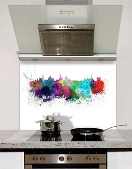 Picture of Watercolour Oxford Splashback
