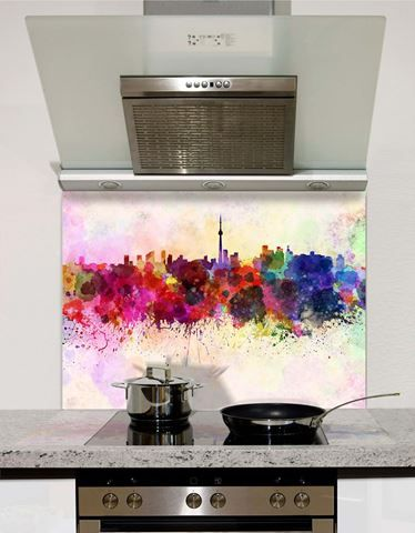 Picture of Watercolour Seattle Splashback