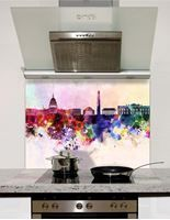Picture of Watercolour Washington DC skyline Splashback