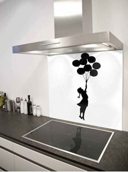 Picture of Banksy balloon girl Splashback