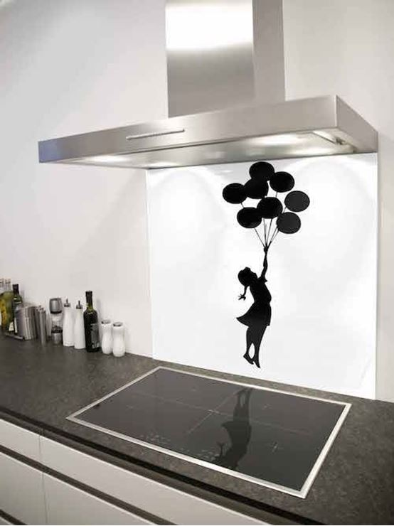 Picture of Banksy balloon girl Splashback
