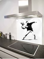 Picture of Banksy flower thrower Splashback