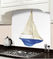 Picture of Barbara Allen Blue Boat Splashback