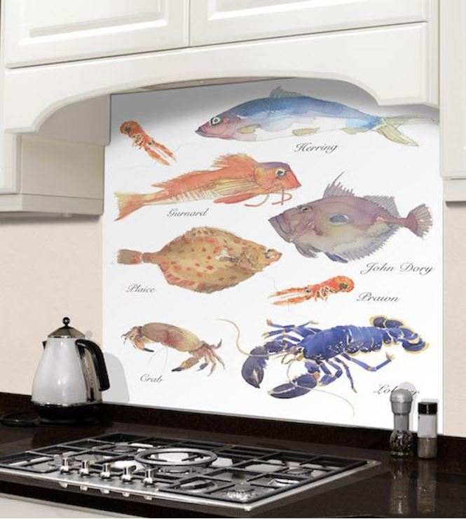 Picture of Barbara Allen Fish Varieties Splashback