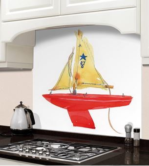 Picture of Barbara Allen Red Boat Splashback