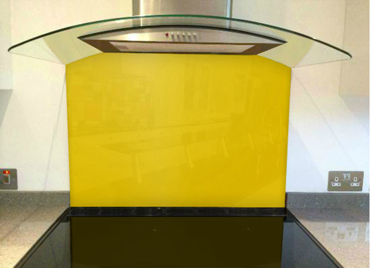Picture of RAL Signal yellow Splashback