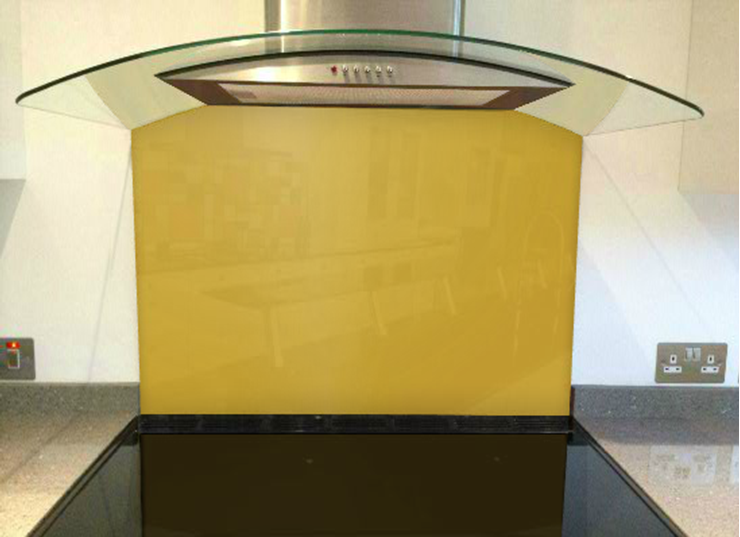 Picture of RAL Golden yellow Splashback