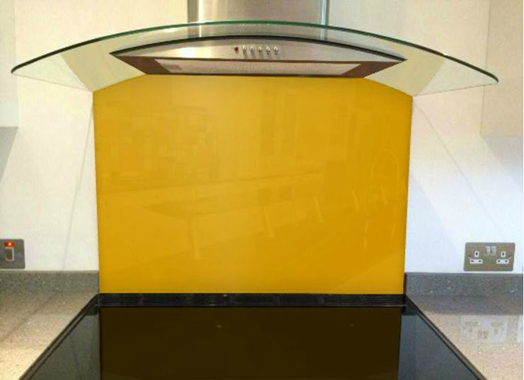 Picture of RAL Daffodil yellow Splashback