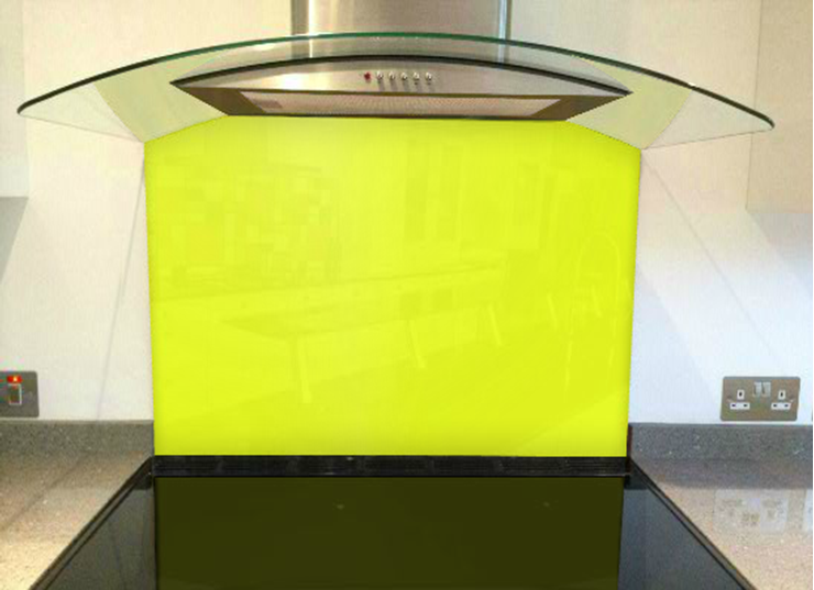 Picture of RAL Sulfur yellow Splashback
