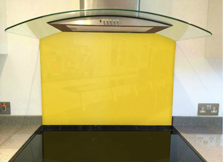 Picture of RAL Saffron yellow Splashback