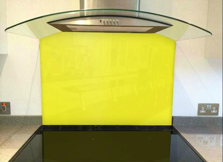 Picture of RAL Zinc yellow Splashback
