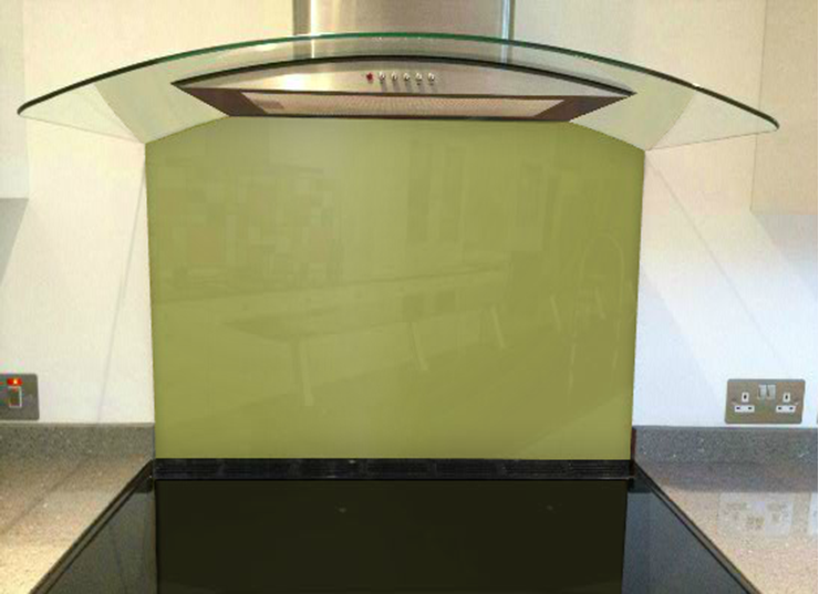 Picture of RAL Olive yellow Splashback