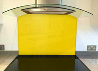 Picture of RAL Traffic yellow Splashback