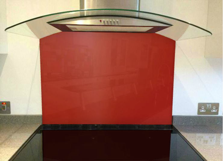 Picture of RAL Signal red Splashback