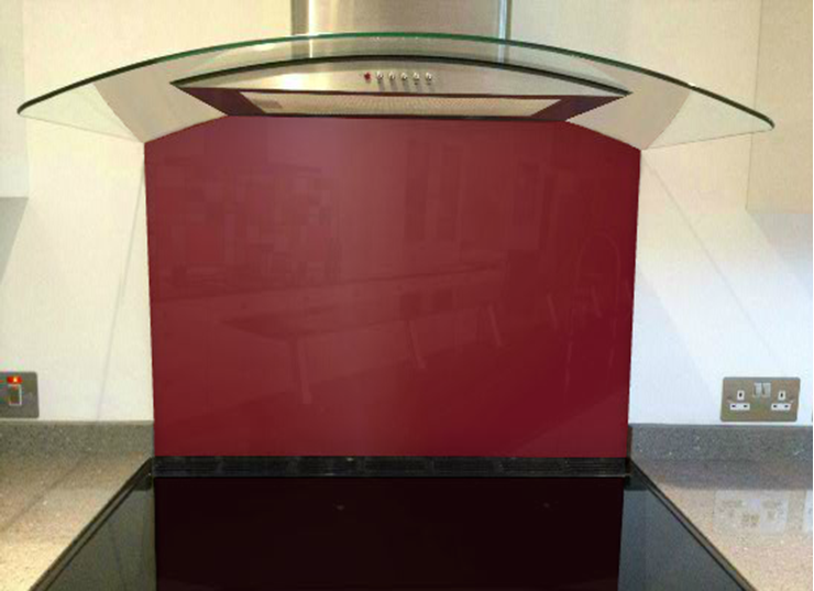 Picture of RAL Pearl ruby red Splashback