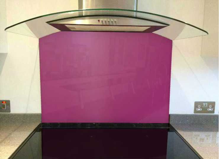 Picture of RAL Traffic purple Splashback