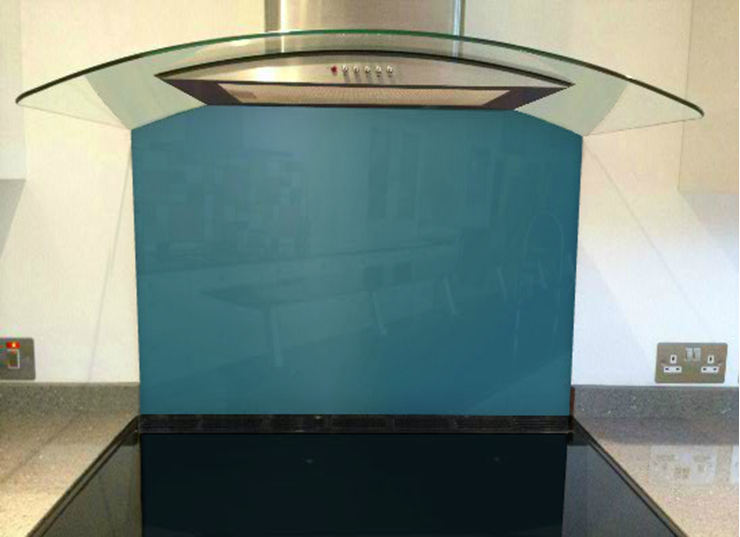 Picture of RAL Pearl gentian blue Splashback
