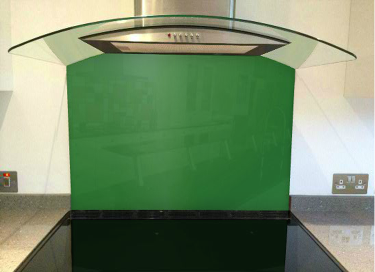 Picture of RAL Emerald green Splashback