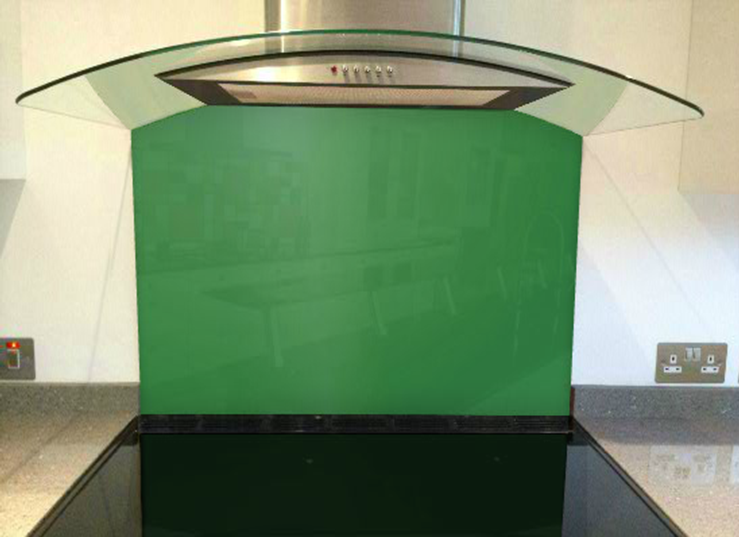 Picture of RAL Signal green Splashback