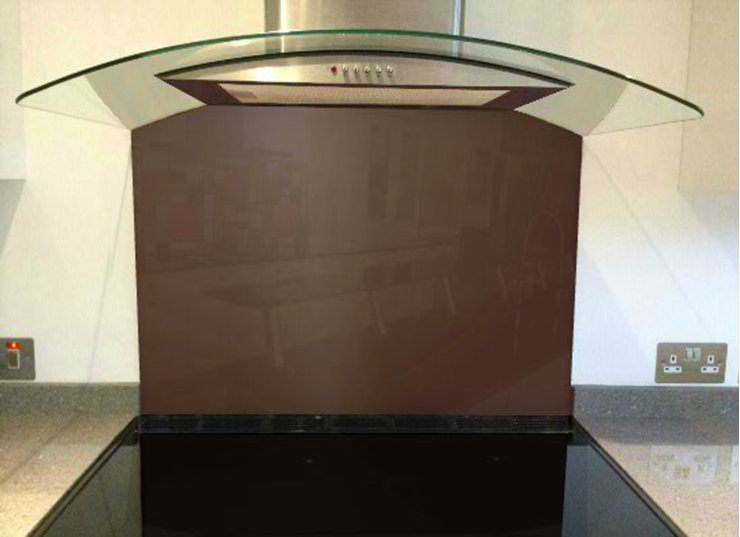Picture of RAL Mahogany brown Splashback