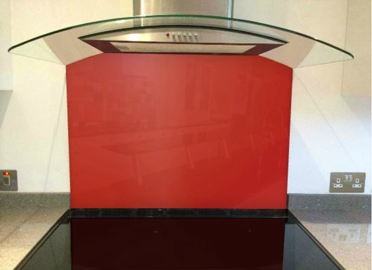 Picture of Little Greene Atomic Red Splashback
