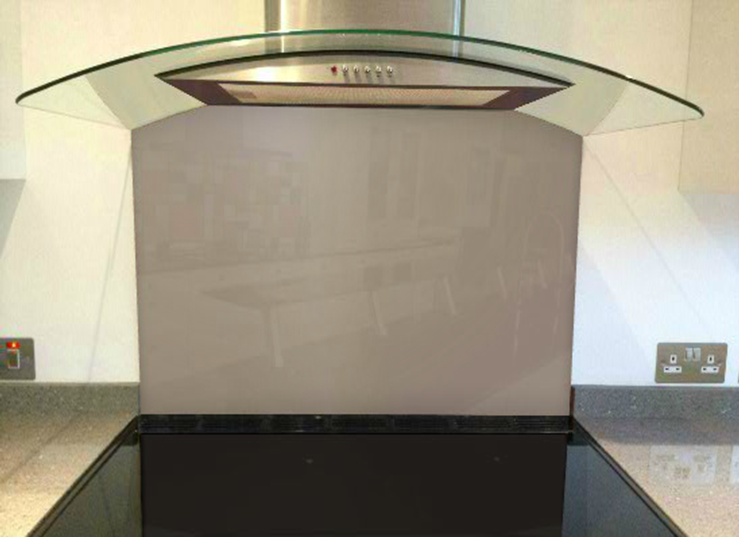 Picture of Crown Chocolate Suede Splashback