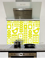 Picture of Yellow Birds Pattern Splashback