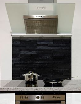 Picture of Black slate wall tiles Splashback