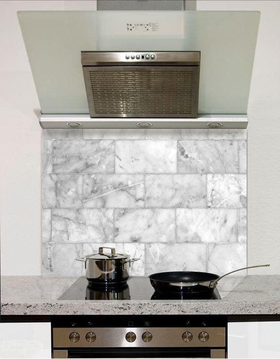 Picture of Marble block tiles Splashback