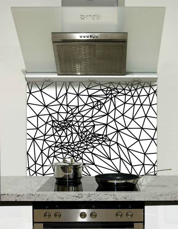 Picture of Black and white web Splashback