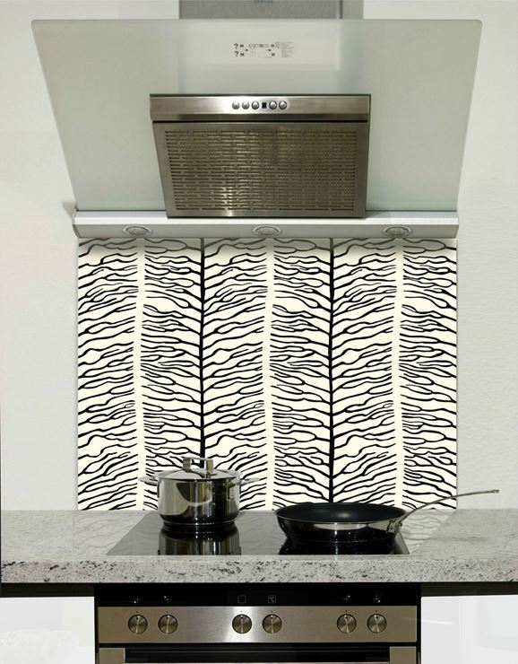 Picture of Black vine Splashback