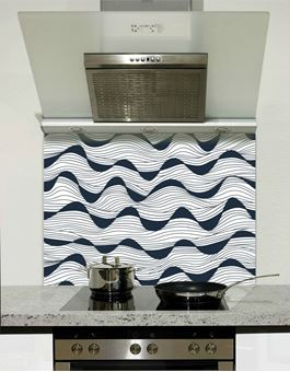 Picture of Black waves Splashback