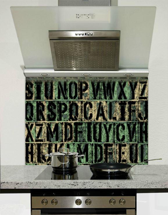 Picture of Grunge letters 001 Splashback