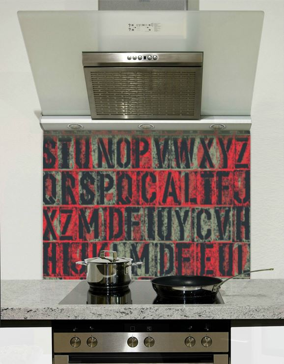 Picture of Grunge letters 002 Splashback