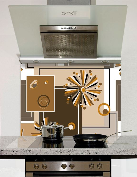 Picture of Abstract retro Splashback