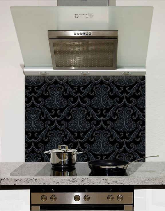 Picture of Black and grey wall pattern Splashback