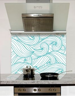Picture of Blue wave pattern Splashback