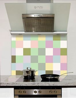 Picture of Pastel squares Splashback