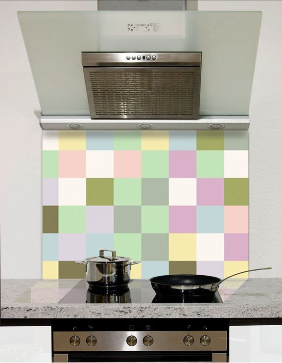 Picture of Pastel squares Splashback
