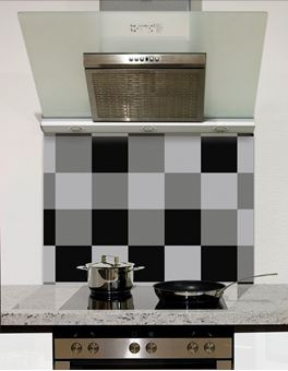 Picture of Shaded Black to grey checks Splashback
