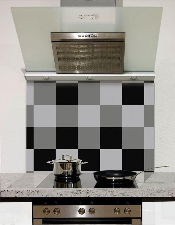 Picture of Shaded Black to grey checks Splashback