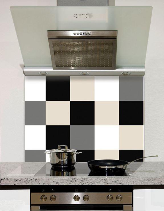 Picture of Shaded Black to white checks Splashback