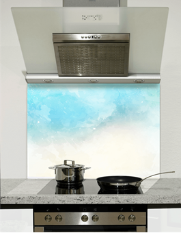 Picture of Blue Watercolour Splashback