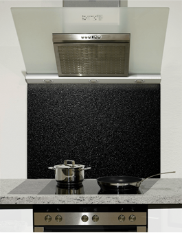 Picture of Dark Textured Design Glass Splashback