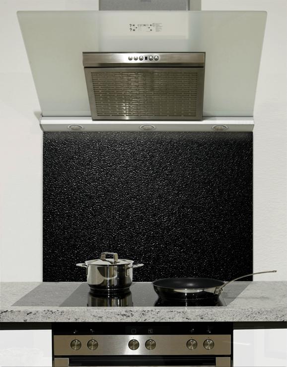 Picture of Dark Textured Design Glass Splashback