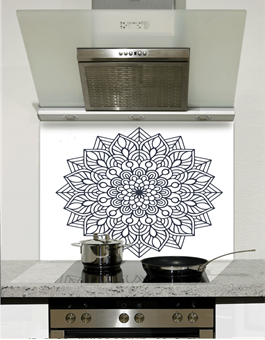 Picture of Indian Mandala Glass Splashback