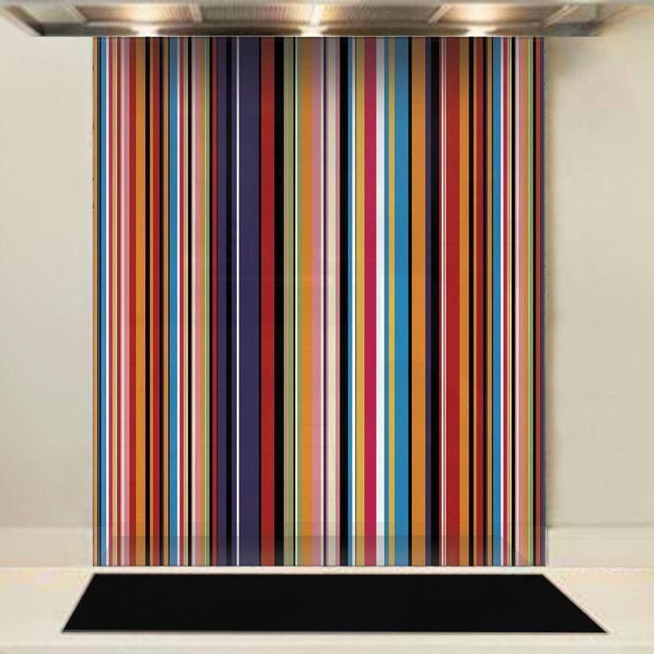 Picture of Multi Stripe Glass Splashback (standard size)