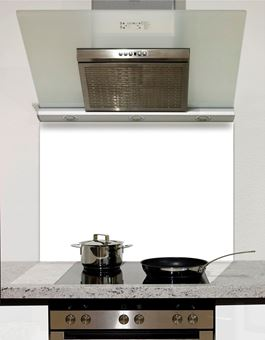 Picture of White Glass Splashback
