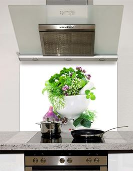 Picture of Herbs Glass Splashback (standard size)
